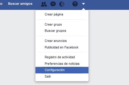 configuración general facebook