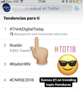 jotaypunto TT HONDURAS think digital today trending topic
