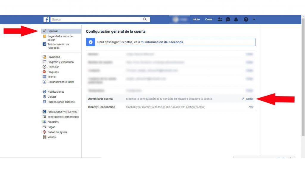 como eliminar mi facebook