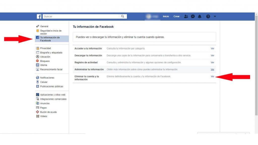 desactivar cuenta de facebook temporalmente