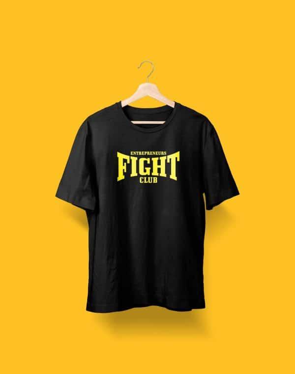 Camiseta Negra Entrepreneurs Fight club